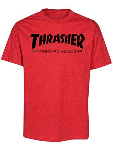 Thrasher magliette-thrasher child maglietta-red rosso 6-7 anni