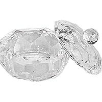 Rotondo in vetro e regolatore di - DAPPEN-DISH con GLAS-DECKEL