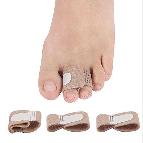 L&X Toe Splint Glätteisen Toe Wrap Anti-Rutsch-Zehenklammer Für Hammer Toe - Broken Toe (5Pcs)