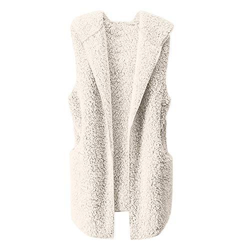 JURTEE Damen Herbst Mäntel,Weste Winter Warm Kapuzenpullover Outwear -