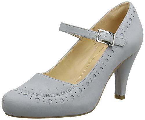 Clarks Dalia Millie, Zapatos Tacón Mujer, Gris Grey/Blue-