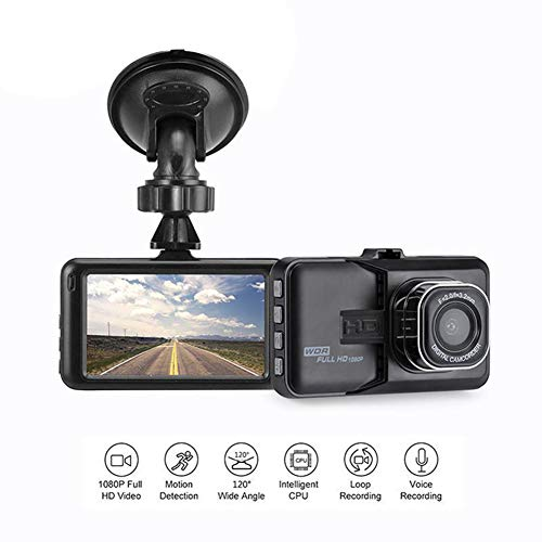 YSHtanj Auto DVR Auto DVR Auto DVR 1080P Mini 7,6 cm Auto DVR Kamera 360 Grad drehbar Dashcam Video Recorder