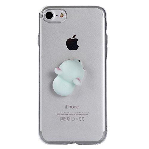 iPhone 7 Hülle, Voguecase Silikon Schutzhülle / Case / Cover / Hülle / TPU Gel Skin für Apple iPhone 7 4.7(Pinch Puppen - Kaninchen) + Gratis Universal Eingabestift Pinch Puppen - Maus