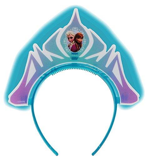 Unbekannt Leucht - Krone  Disney die Eiskönigin - Frozen  - Knicklicht Diadem / Tiara - für Mädchen - Kinder Kindergeburtstag Party - völlig unverfroren Prinzessin EL..