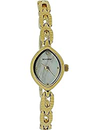 Sekonda 4289 - Reloj para mujeres, correa de metal color dorado