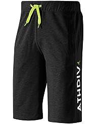 Mizuno Pantalones de Running Producto Oficial 2015/2016 HERITAGE 1906 HALF PANT K2ED500309 Color Negro, Talla M negro negro Talla:XL