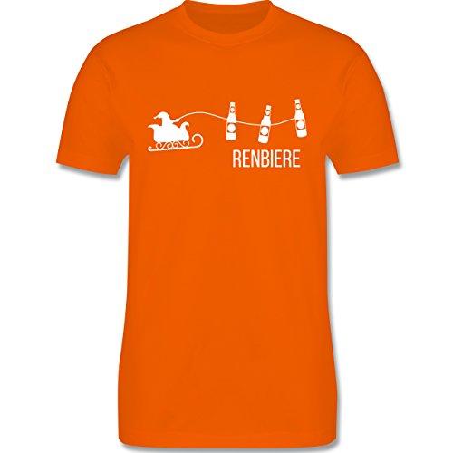 Typisch Männer - Renbiere - Herren Premium T-Shirt Orange