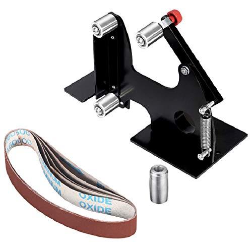 SNOWINSPRING Amoladora De áNgulo EléCtrica Lijadora De CinturóN Adaptador De CinturóN De Lijar De Metal Para Amoladora De 115 áNgulo Herramientas De CarpinteríA Para Pulir Metal (M14)