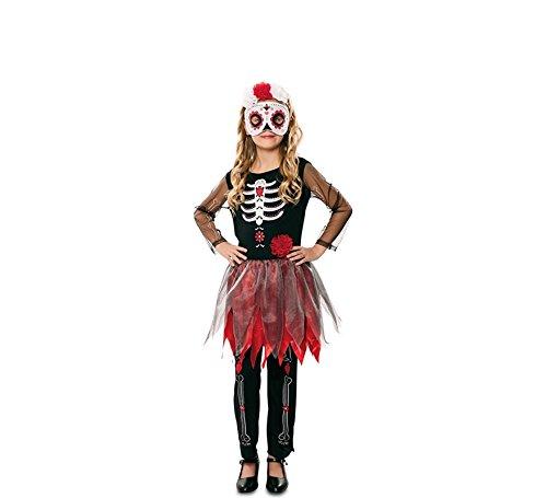 EUROCARNAVALES Disfraz de Catrina Esqueleto para niña