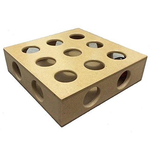 Vicstar Heimtierbedarf Katzenspielzeug Interaktives Puzzlespiel Verstecken Suchbox Kratzen Spielzeug Neun Loch Schatzsuche Übungsball Spielzeug Perfektes Geschenk für Katze - 25 × 25 × 6,5 cm / 9,84 × 9,84 × 2,55 Zoll