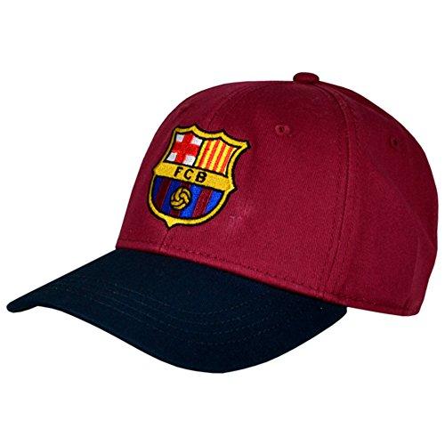 FC Barcelona Fußball Wappen Design Baseball Kappe (Einheitsgröße) (Burgunder/Schwarz) (Fußball-kappe Baseball-kappen Hut)