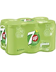 7UP Free Sparkling Lemon and Lime Drink Cans, 330ml (Pack of 6)