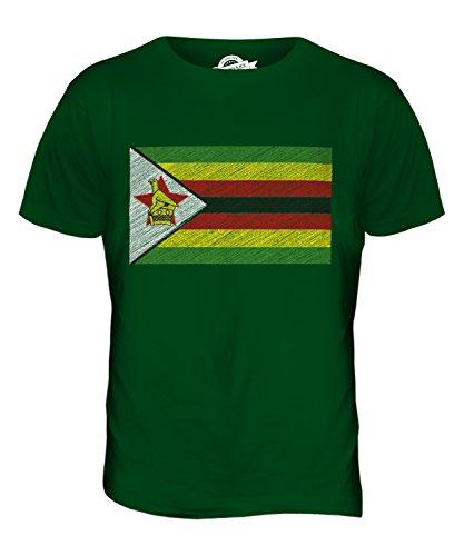 CandyMix Simbabwe Kritzelte Flagge Herren T Shirt Flaschengrün