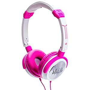 iDance Crazy 101 Kopfhörer mit 44mm Treiber pink/weiß