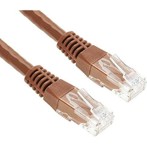 GizzmoHeaven 2M Marrone Cavo di Rete Ethernet Cat5e Alta Velocità RJ45 LAN Patch fili per casa e ufficio in rete - 2 Metro - Marrone