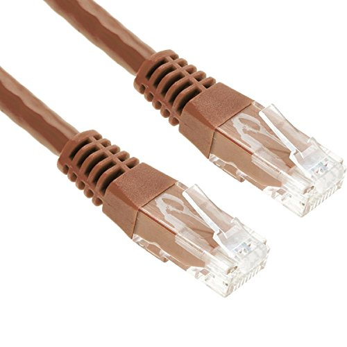 GizzmoHeaven 5M Marrone Cavo di Rete Ethernet Cat5e Alta Velocità RJ45 LAN Patch fili per casa e ufficio in rete - 5 Metro - Marrone