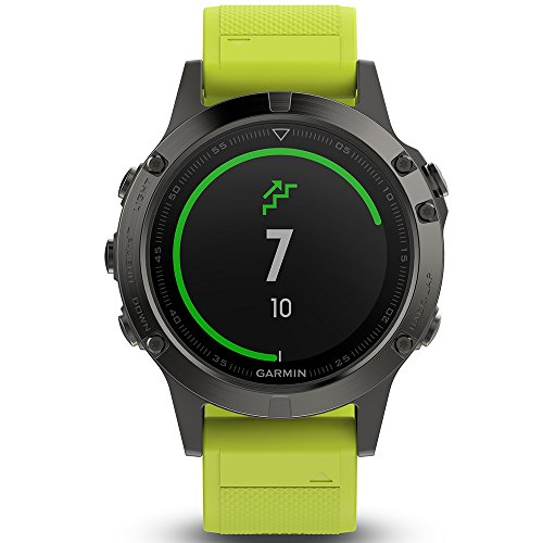 Garmin Fenix 5 Multisport GPS Watch with Outdoor Navigation and Wrist-Based Heart Rate – Slate Grey with Yellow Band