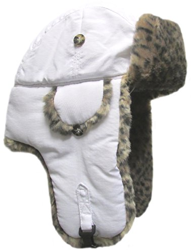 Mad Bomber Hat (Mad Bomber Original Pilotenhut aus Kunstfell für Jagd, Weiß, Unisex-Erwachsene Damen, FBA_300FFWHT, White(4), X-Large)