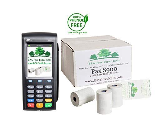 Pax S900 - Rollos tarjetas crédito sin BPA 50 rollos