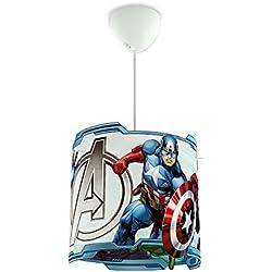 Philips Marvel Vengadores - Lámpara colgante, iluminación interior, luz blanca cálida, plástico, color blanco