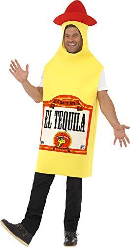 Smiffys Herren Tequila Flasche Kostüm, Tunika, Größe: M, 22592