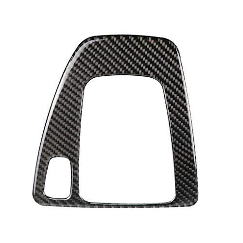fish Innenverkleidung Carbon Fiber Schaltknauf Control Panel Deckel Aufkleber RHD Auto replacemnt für BMW e90 e92 (Bmw E92 Carbon Fiber)