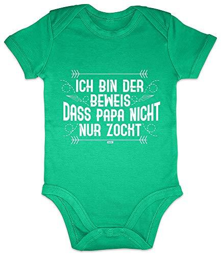 HARIZ Baby Body Kurzarm Ich Bin Der Beweis Zocken Gamer Gaming Plus Geschenkkarten Frosch Quietsch Grün 3-6 Monate
