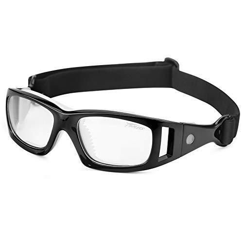 fussball sportbrille Pellor Radfahrenbrillen Außensportbrillen Schutzbrillen Sportbrillen Einstellbare elastische Wrap Eyewear für Fußball Basketball Tennis-Liebhaber