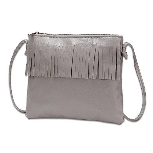 Mefly La Nuova Moda Per Donna Borsa Donna Borsa Piccola Borsa A Tracolla Grigio Chiaro Light grey