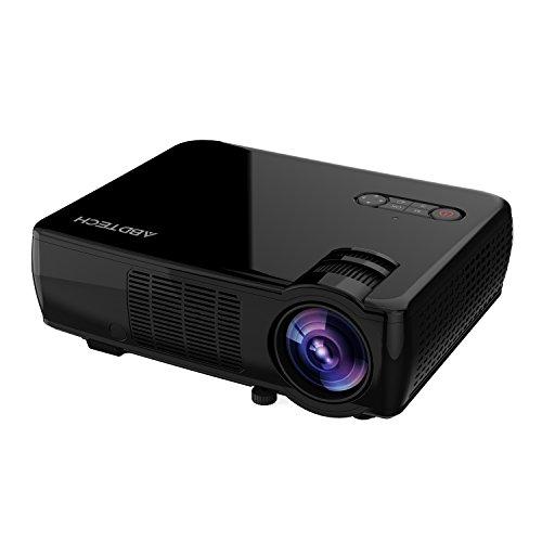 #LED Beamer, Abdtech 2600 Lumen GP33 LCD Projektor Multimedia Heimkino Unterstützung HD LED 1080P Video Beamer-5.0 Zoll LCD TFT Display mit optischer Keystone USB/AV/HDMI/VGA#