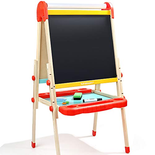 DUYANGANG Kids Art Doppelseitige Whiteboard 2 in 1 Tafel Malerei Staffelei