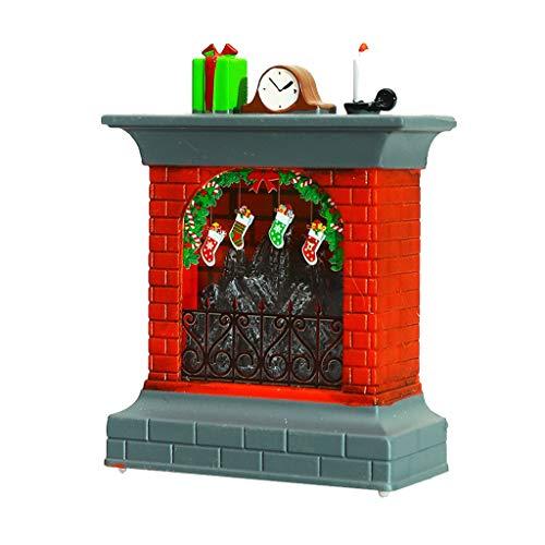 jieGREAT ❄ Weihnachten Deko❄ ,Weihnachten 3D Kamin Xmas Strumpf Nachtlicht LED Tisch Schreibtisch Lampe Home Decor -