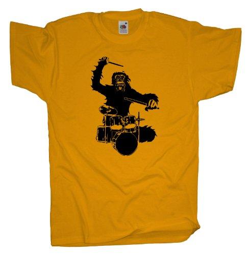 Ma2ca - Gorilla Drummer - T-Shirt Sunflower