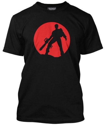 Evil Dead Chainsaw Mens Black T-Shirt, X-small to 3XL