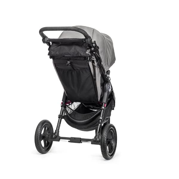 Baby Jogger City Elite Single Stroller Red  Lift one strap and the City Elite folds itself: Simply and compactly, it really is as easy as it sounds and the auto-lock will lock the pushchair for transportation or storage The City Elite offers an array of storage, including a built-in parent console that keeps your most used items at your fingertips, an adjustable handlebar and a hand-operated parking brake keeps all the controls within reach Suitable from birth, the seat reclines to a near flat position with vents and a retractable weather cover plus SPF 50+ hood throws a lot of shade on a sunny day and has a peek-a-boo window with magnetic closure so you can quietly check on your little one 3