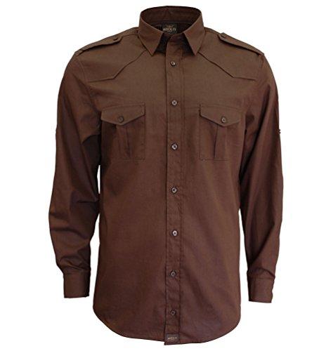 Camisa de hombre de manga larga camisa de los Estados Unidos con...