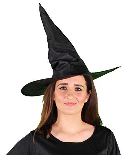 rzer Hexenhut für Damen Halloween Horror Party schwarz Hexe Hut Kopfbedeckung (Halloween-hexe-hüte)