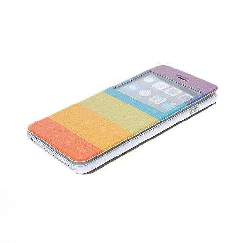 MOONCASE Coque en Cuir Housse de Protection Étui à rabat Case pour Apple iPhone 6 Plus A18164