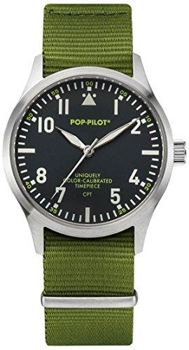 Pop-Pilot Unisex-Armbanduhr CPT Analog Quarz Nylon P4260362631014
