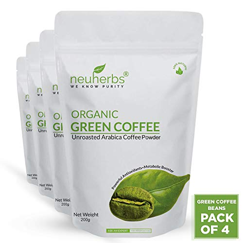 Neuherbs Green Coffee Beans Powder for Weight Loss 200g (Pack of 4)