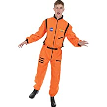 Mens Orange Astronaut Spaceman Space NASA Fancy Dress Costume Extra