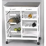 Kit Closet 7040028011 - Carro de cocina completo, inox