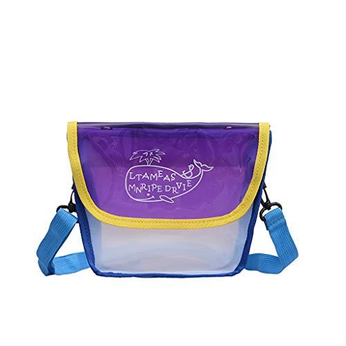 Damen Leder Armband Mini Umhängetasche, kleine Schulter Clutch Geldbörse Handtasche ☆Elecenty☆ Transparent Whale Pattern - Cabrio-leder-satchel