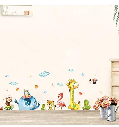 Cartoon Party Niedlichen Tiere Wandaufkleber Für Hauptdekoration Kinder Baby Zimmer Schlafzimmer Kindergarten Wandbild Kunst Decals Aufkleber Tapete
