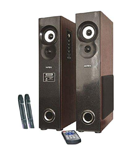 Intex IT-10500 SUF Plus Tower Speakers - Black and Brown