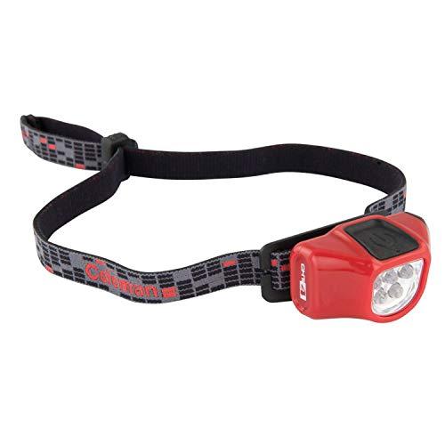 Coleman 2000014805-Aufklappbarer Stirnlampe mit Hochleistungs-LEDs und Kopf - Rot Coleman Taschenlampe