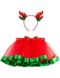 3ada9fe8e7ba2 DAY8 Ensemble Noël Enfants Fille Hiver Tutu Ballet Jupe Fille 2-11 Ans Tulle  Jupe