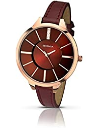 Sekonda Women's Quartz Watch with Red Dial Analogue Display and Red Alloy Strap 2245.27
