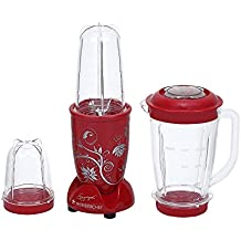 Wonderchef Nutri-Blend 63152296 400-Watt Mixer Grinder with 3 Jars (Red)