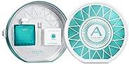 AZZARO Chrome Aqua Gift Set for Men - EDT 100 ml + Mini + Lente Smatphone